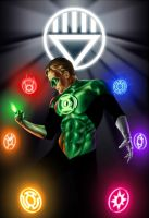 Green Lantern Blackest Night by OzWonderland