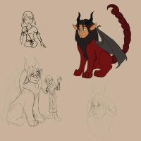 Manticore Sketches by LisaGreywood
