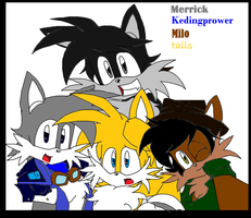 Merrick, Keding, Milo and Tails: Hey Brothers by RoninHunt0987