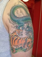 tiger and dragon by GlassBeetle