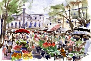 Grasse, Provence - Market by lapoall