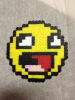 -Perler- Awesome face by OtakuLuka