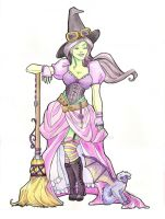 Steampunk Wicked Witch by khallion