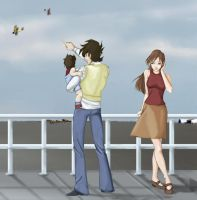family outing - flying circus by Adena22