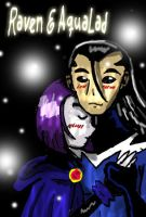 Raven and Aqualad by teentitans
