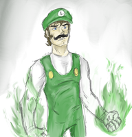 Fire Luigi by Prince-Marusu