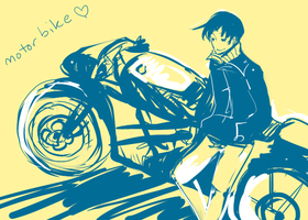 him and his  motorbike by kyunyo