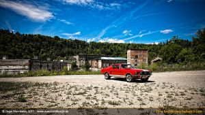 red s-code fastback III by AmericanMuscle