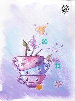 Tea time happiness by Gloria-T-Dauden