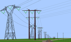 The power lines march across the Nowhere Lands by OceanRailroader