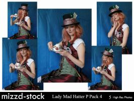 Lady Mad Hatter Portrait Pack4 by mizzd-stock