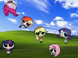 My Little Ponies PPG style by cj0808
