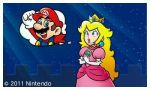 mario and peach in super mario 3d land ^^ by MarioXMariana