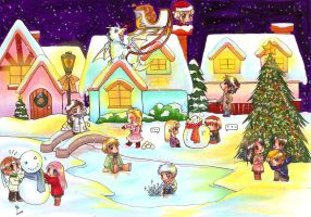 Christmas Town by dievegge