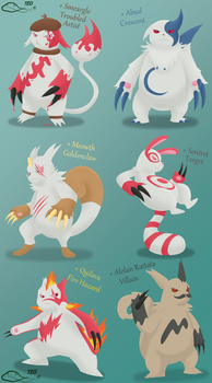 Zangoose Variations by The-Emerald-Otter