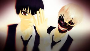 MMD Tokyo Ghoul Kaneki Request DONE by PrincessSushiCat