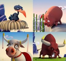 Toon animals by digitalrebelstudio