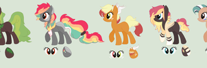 Hatched Ponies! (All owned wowiee) by BluesStuff