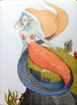 Pale mermaid by Comiky