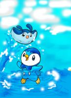 Piplup and Mantyke