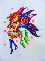 Pink Auras-Pin-up Fairy by Ai-Don