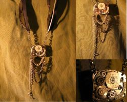Chained Time Necklace by Muffinettes-crafts