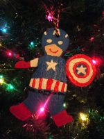 Gingerbread Captain America Ornament by brodiehbrockie