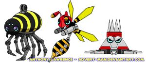 Grabber, Buzzer and Spiny by Advert-man