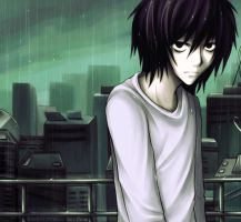 Death Note: Rain by kaekaa