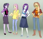 MLP: College gals by klinanime