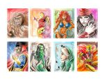 Marvel  70th Sketchcard pack-3 by newtonb