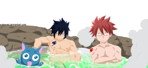 FT 355 - Gray, Natsu and Happy by AlexanJ