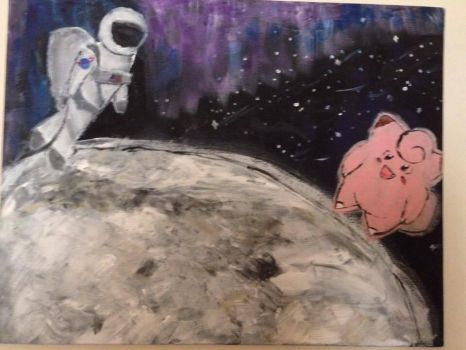 Clefairy on the moon by goshilpa