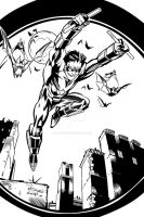 Nightwing by McDaniel my INKS by JamesLeeStone