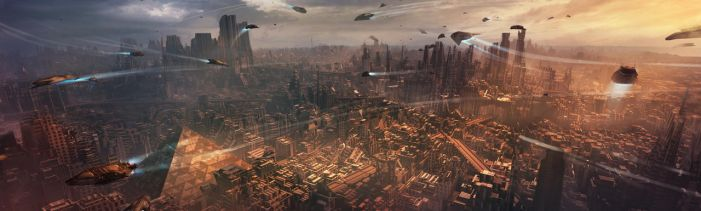 Sci-fi City by M-Delcambre