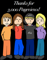 Thanks for 3,000 Pageviews by AceDecade