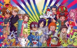 Digimon: The group minus Sora by Shigerugal