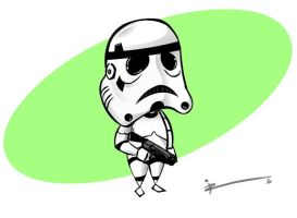 Chibi trooper by IZRA