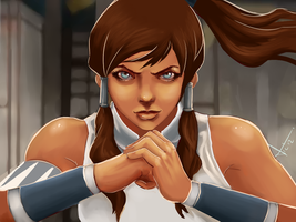 Korra tribute by victter-le-fou