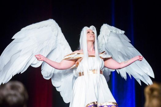 On stage raising wings at NDK by Silver-Fyre