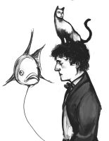gilbert and his pets by Accolay