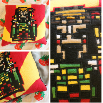 Kefka Pillow by SillinessofSewing