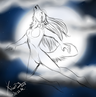 Moon Howl. WIP. by Cynn-L