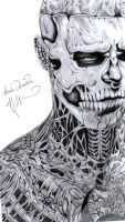 "Rico the Zombie ""RICK GENEST"" by GhostShark94"