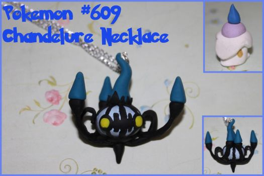 Chandelure Charm Necklace by picklelicker129