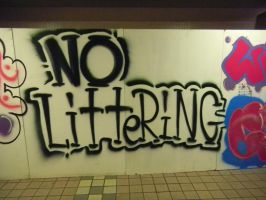 No Littering by RiverKpocc