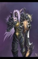 Yujiro, Night Elf Warrior by Shinsen