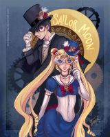 Steampunk Sailor Moon by StarMasayume