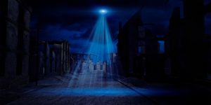 Alien abduction city by indigodeep