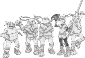 Teenage Mutant Ninja Turtles (2012) Main Heroes by 4xEyes1987